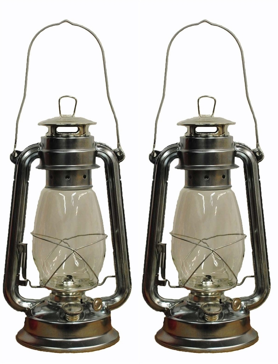 12 Inch Silver Hurricane Lantern | Shop4Omni Intended For Decorative Outdoor Kerosene Lanterns (Gallery 2 of 20)