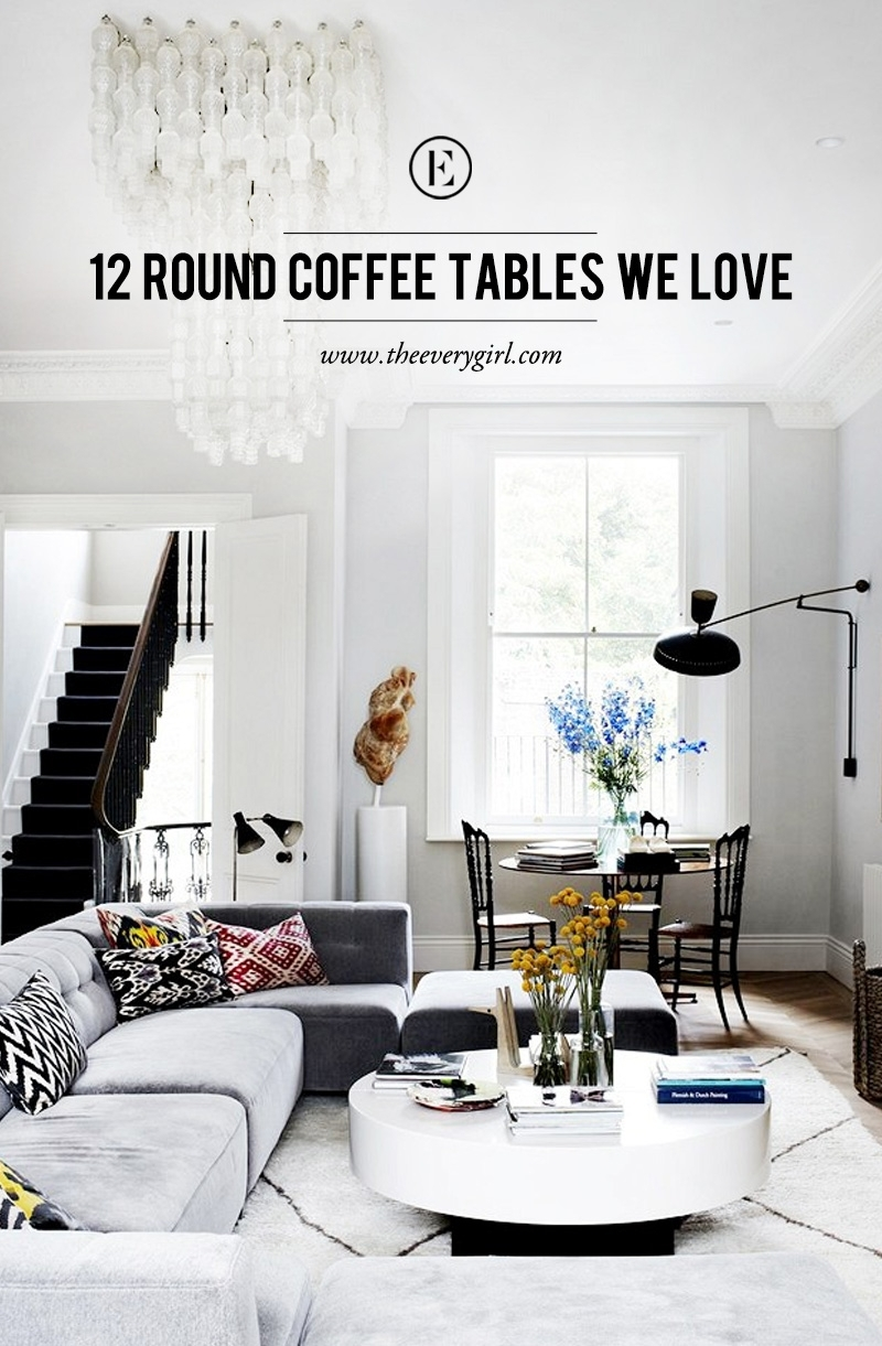 12 Round Coffee Tables We Love – The Everygirl For Shroom Large Coffee Tables (View 3 of 30)
