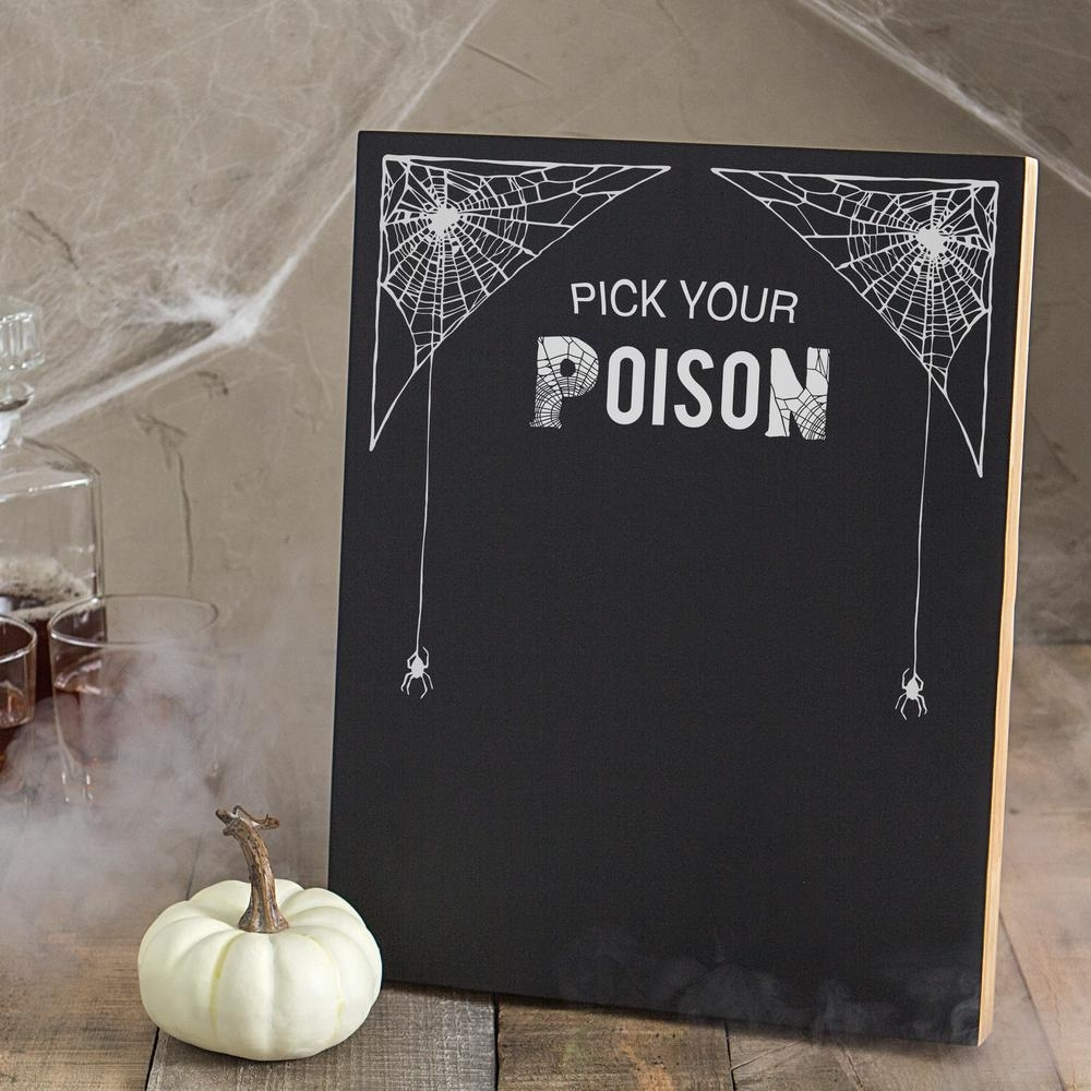 14 In. X 11 In. Pick Your Poison Printed Chalkboard Wall Art Hw 2140 Pertaining To Chalkboard Wall Art (Photo 10 of 20)