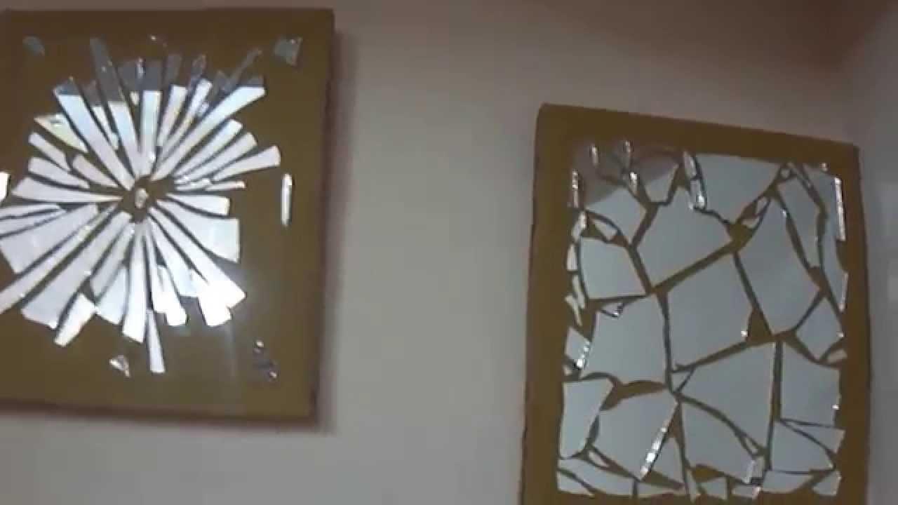 15 Diy Wall Decor — Mirror Mosaic – Youtube Within Mirror Mosaic Wall Art (View 6 of 20)