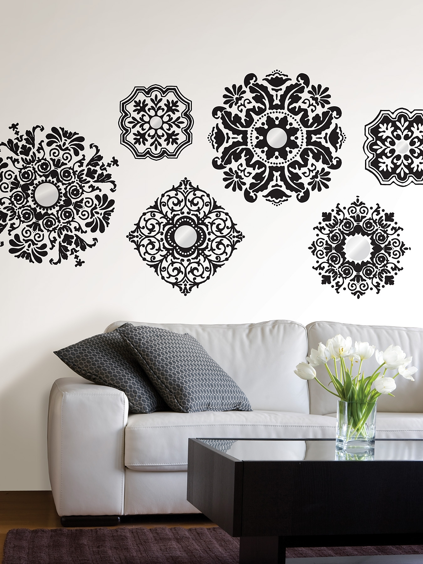 15+ Nice Black And White Wall Decor Ideas - Homeideasblog with Black Wall Art (Image 1 of 20)