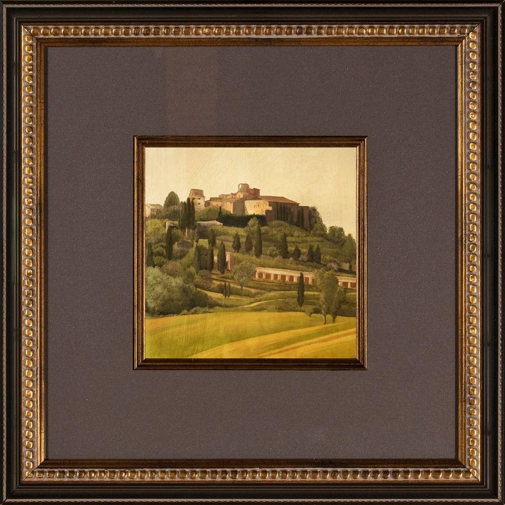"16.5 In. X 16.5 In. ""tuscan Hillside A"" Framed Wall Art 1 10406A For Tuscan Wall Art (Photo 18 of 20)"