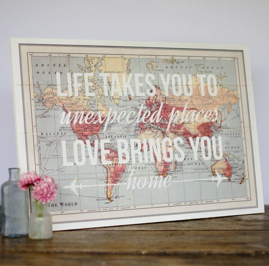 17 Cool Ideas For World Map Wall Art | For The Home | Pinterest Intended For Cool Map Wall Art (View 4 of 20)