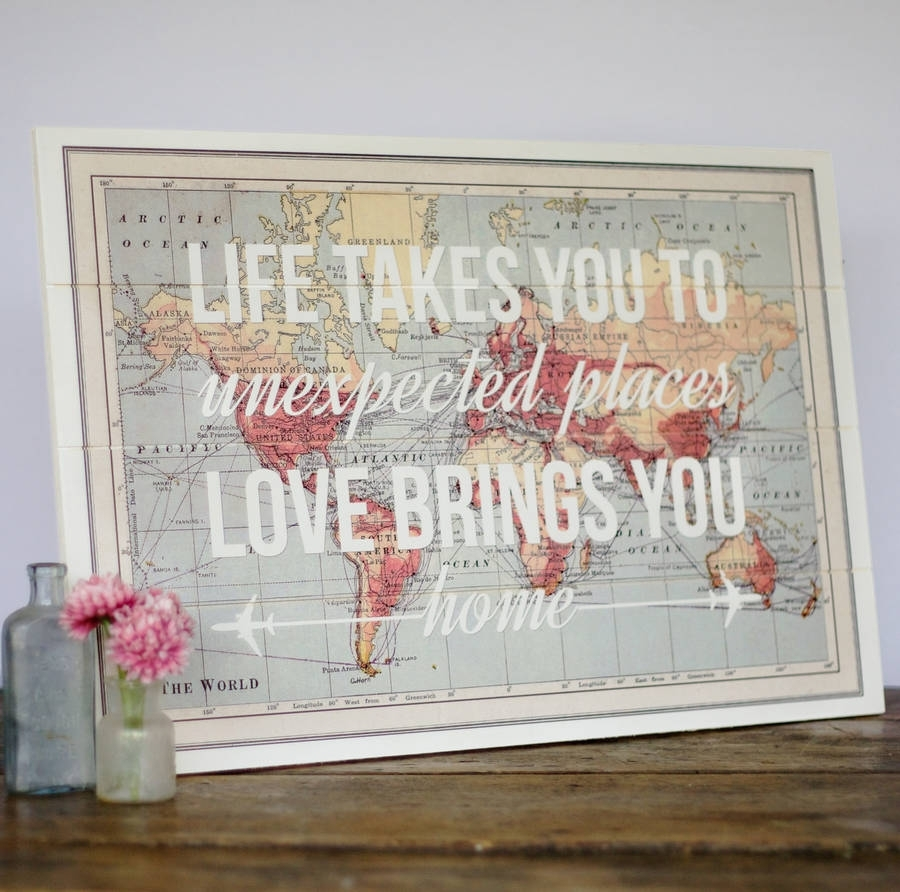 17 Cool Ideas For World Map Wall Art – Live Diy Ideas With Regard To Wood Map Wall Art (Gallery 15 of 20)