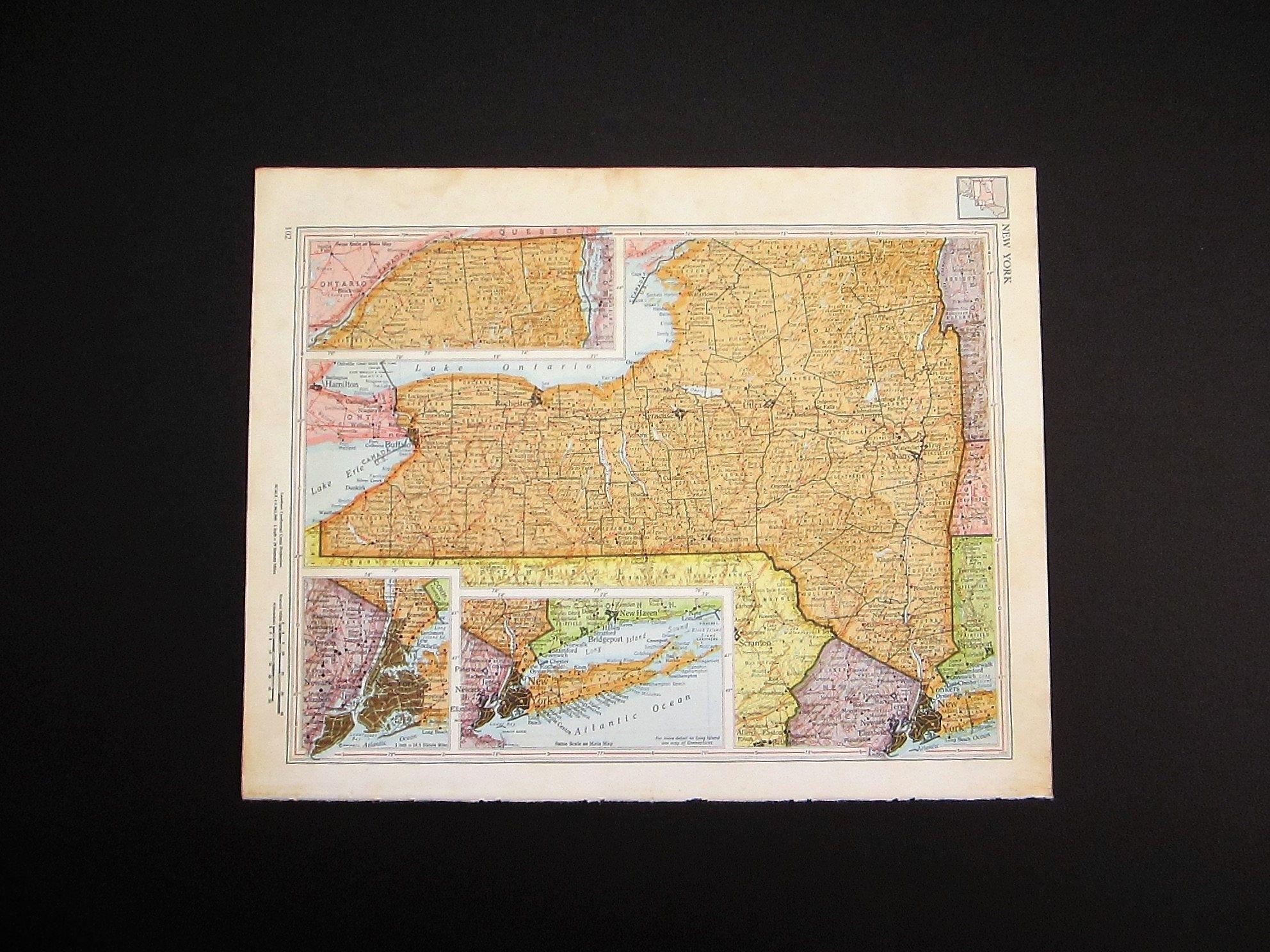 1960 New York Map / Vintage Map Wall Art / Office Decor / New York Within New York City Map Wall Art (View 3 of 20)