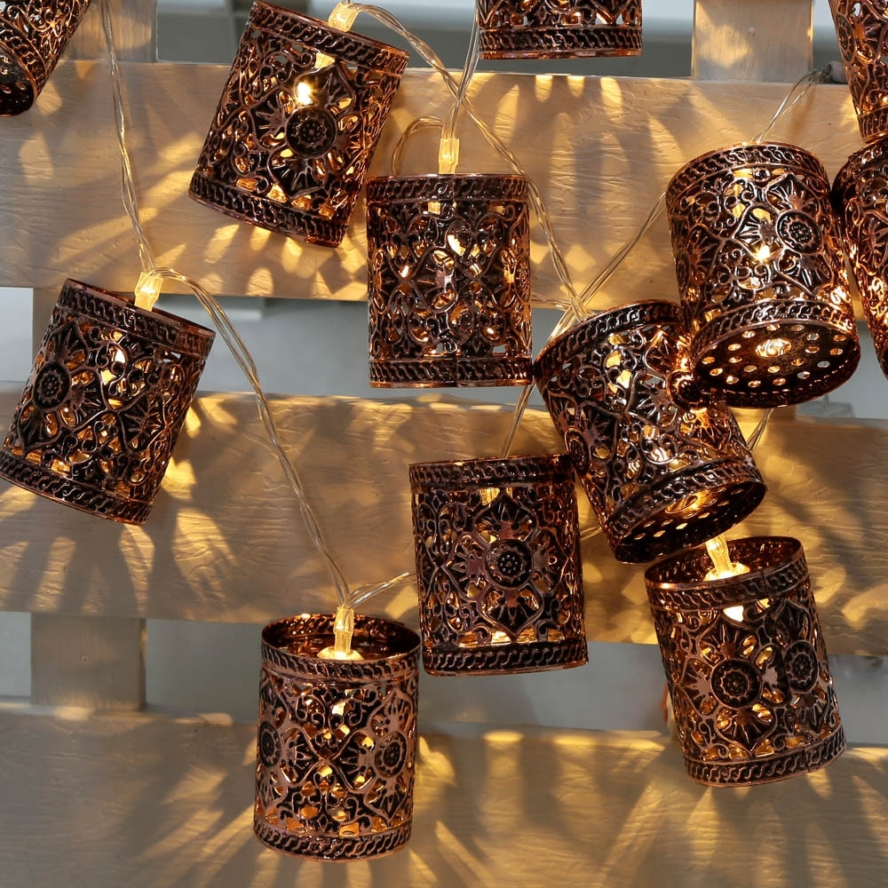 1Pcs 2.1M 20Led Battery Led String Light Battery Operated Retro Throughout Outdoor Turkish Lanterns (Gallery 5 of 20)