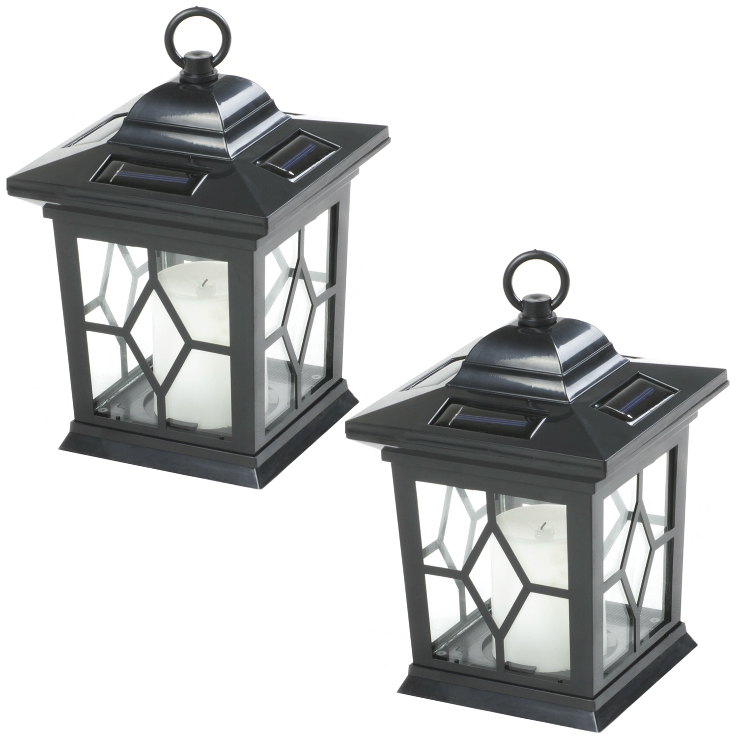2 X Woodside Hanging Candle Lanterns | Lighting | Outdoor Value throughout Outdoor Candle Lanterns (Image 1 of 20)