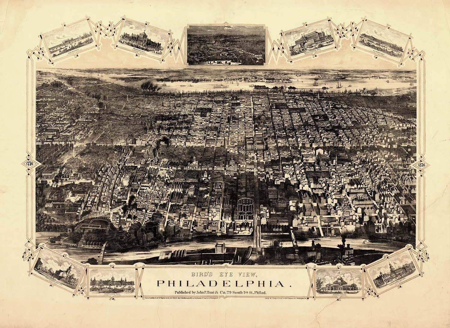 20 Best Collection Of Philadelphia Map Wall Art, Philadelphia Wall With Regard To Philadelphia Map Wall Art (Gallery 5 of 20)