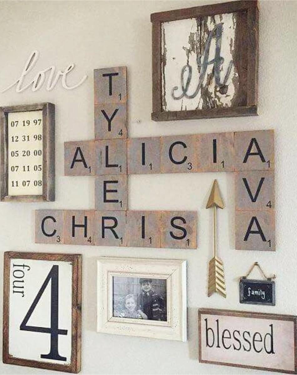 20 Best Scrabble Letter Wall Art Wall Art Ideas, Letter Wall Art Within Letter Wall Art (Photo 17 of 20)