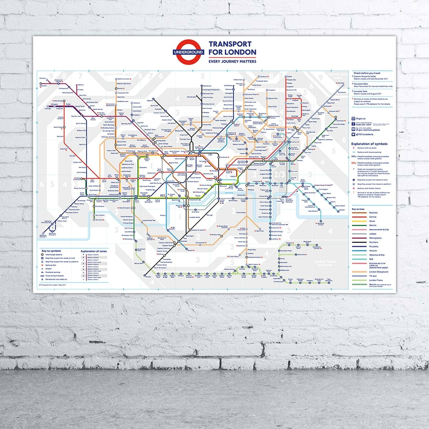 20 Best Tube Map Wall Art, Underground Wall Art – The Beyer Foundation Throughout Tube Map Wall Art (Gallery 6 of 20)