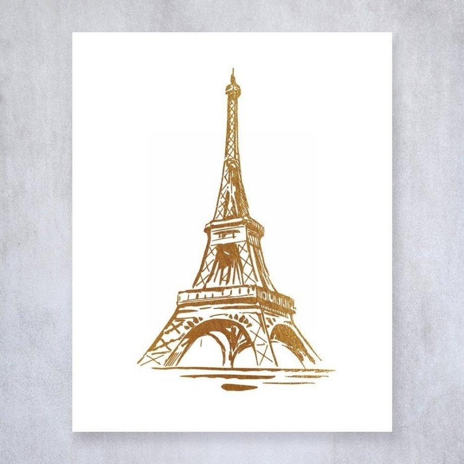 20 Collection Of Paris Theme Wall Art Wall Art Ideas, Paris Eiffel Throughout Eiffel Tower Wall Art (Photo 19 of 20)