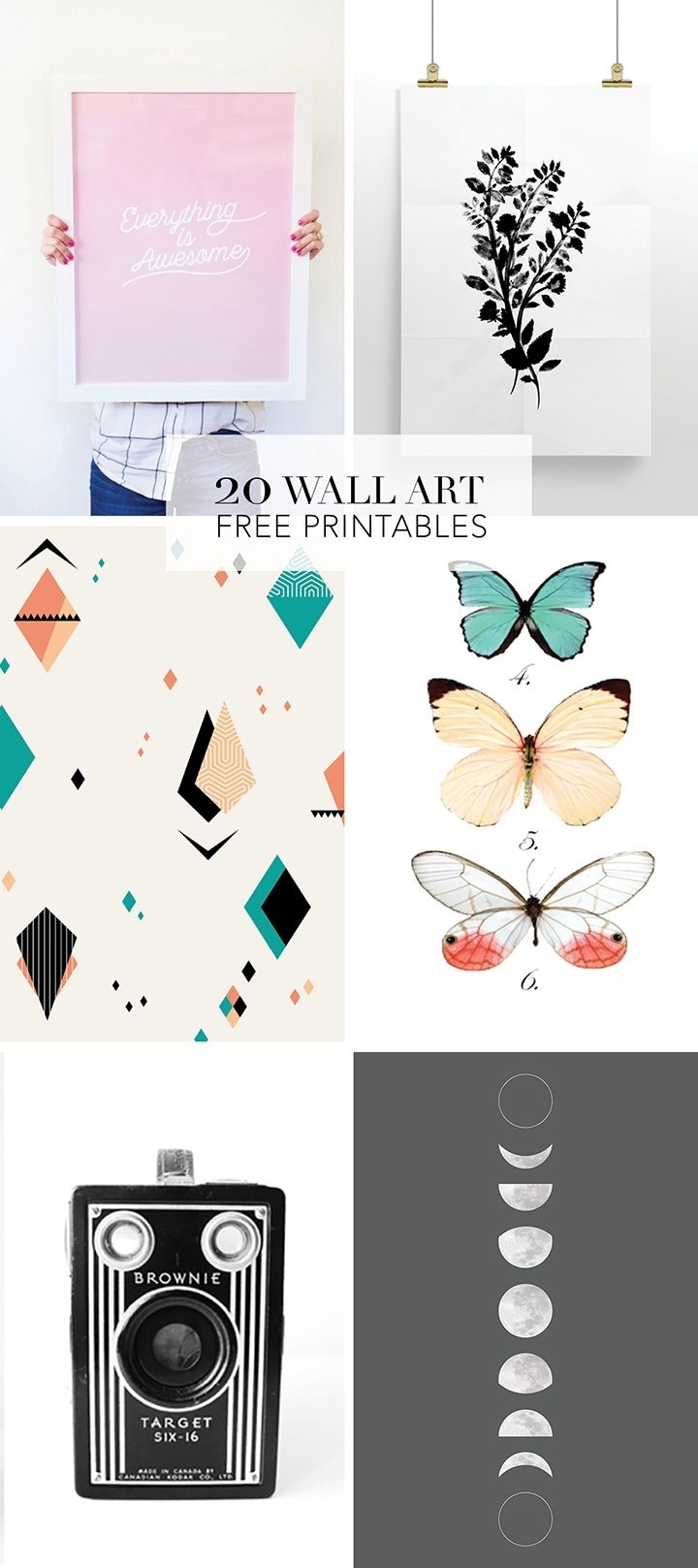20 Favorite Wall Art Free Printables | Diy Wall Decor | Pinterest In Free Printable Wall Art Decors (Photo 4 of 20)