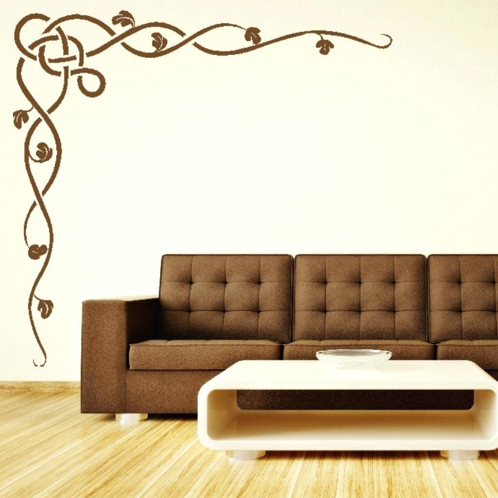 20 Ideas Of Stencil Wall Art Wall Art Ideas, Wall Stencil Art Regarding Stencil Wall Art (Gallery 6 of 20)