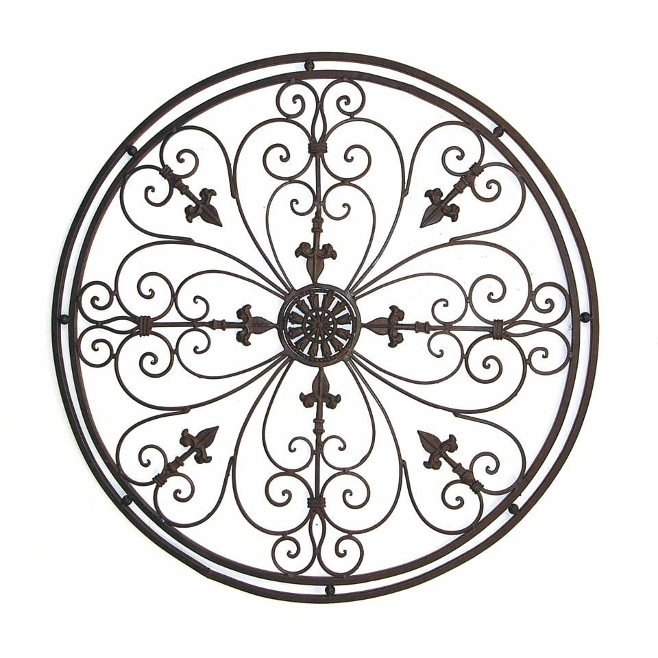 20 Ideas Of Tuscan Wrought Iron Wall Art Wall Art Ideas, Round Iron With Regard To Wrought Iron Wall Art (Gallery 20 of 20)