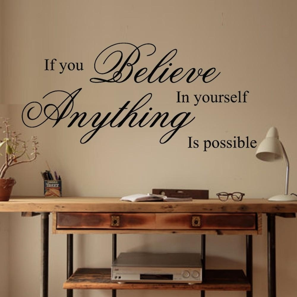 20 Inspirations Inspirational Wall Decals For Office, Business inside Inspirational Wall Art (Image 1 of 20)