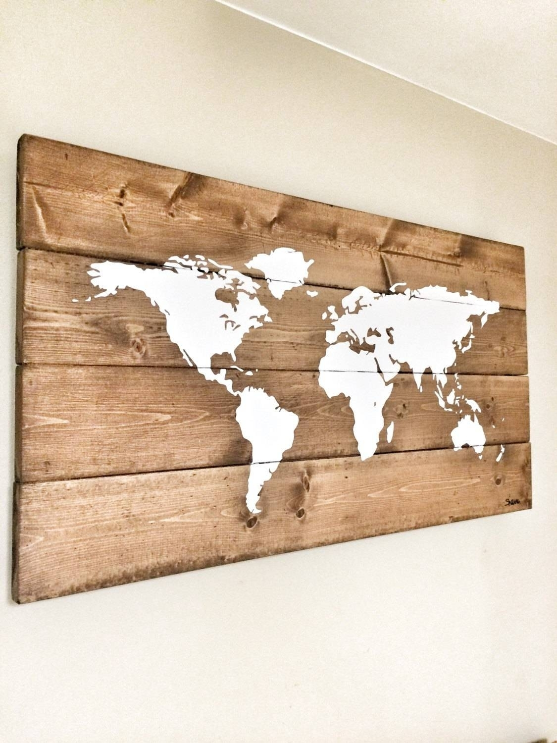 20 The Best Wood Map Wall Art. Map Of Countries. Copy Rustic World For Wood Map Wall Art (Gallery 8 of 20)
