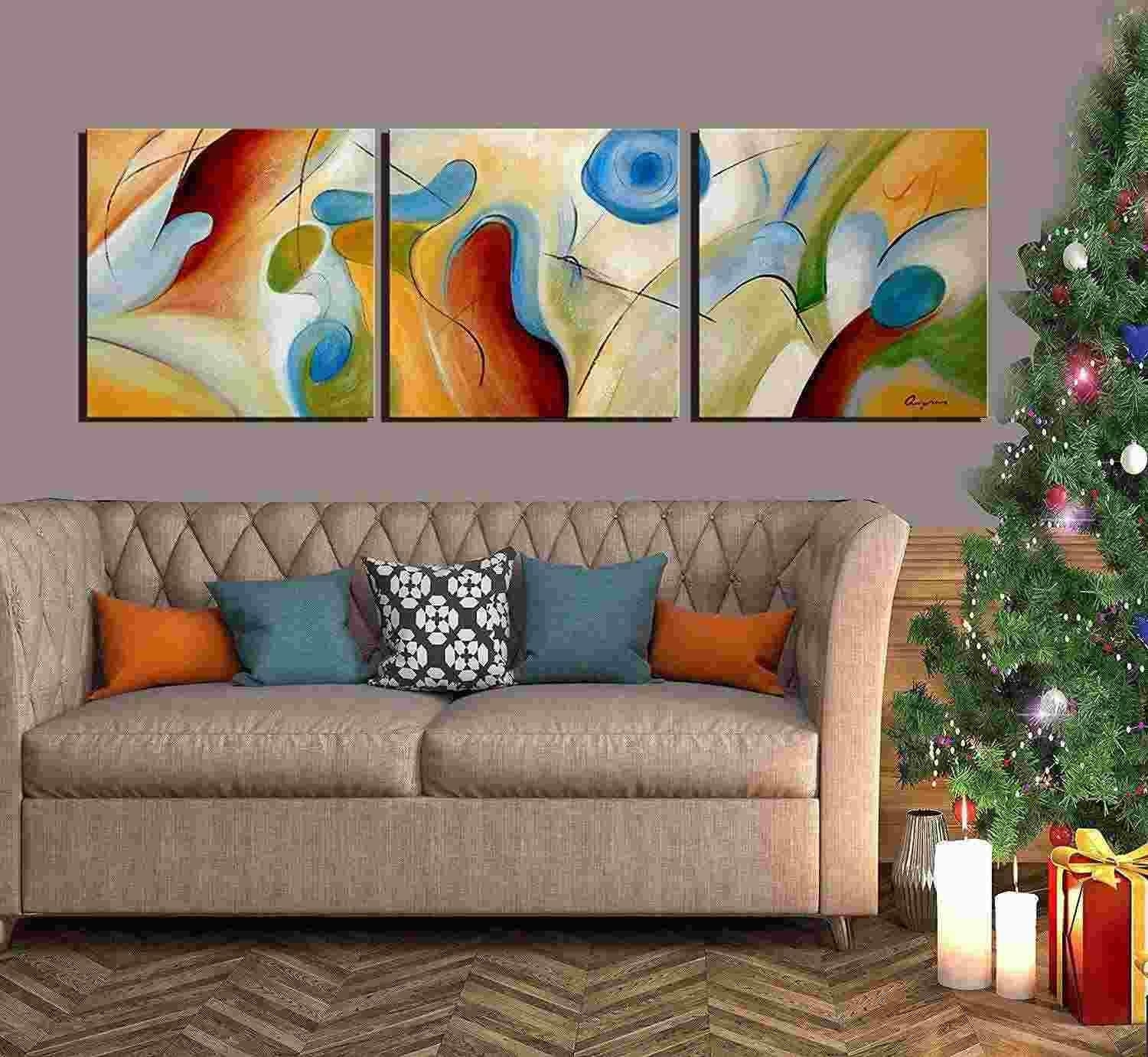 2018 100% Hand Painted Abstract Oil Painting On Canvas Dream inside Abstract Oil Painting Wall Art (Image 3 of 20)