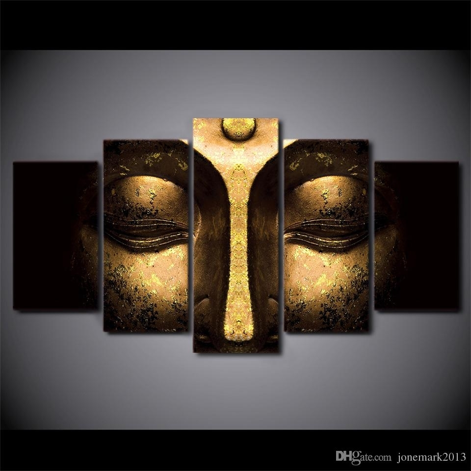 2018 Canvas Art Buddha Peaceful Hd Printed Wall Art Home Decor Pertaining To 5 Piece Wall Art Canvas (View 1 of 20)