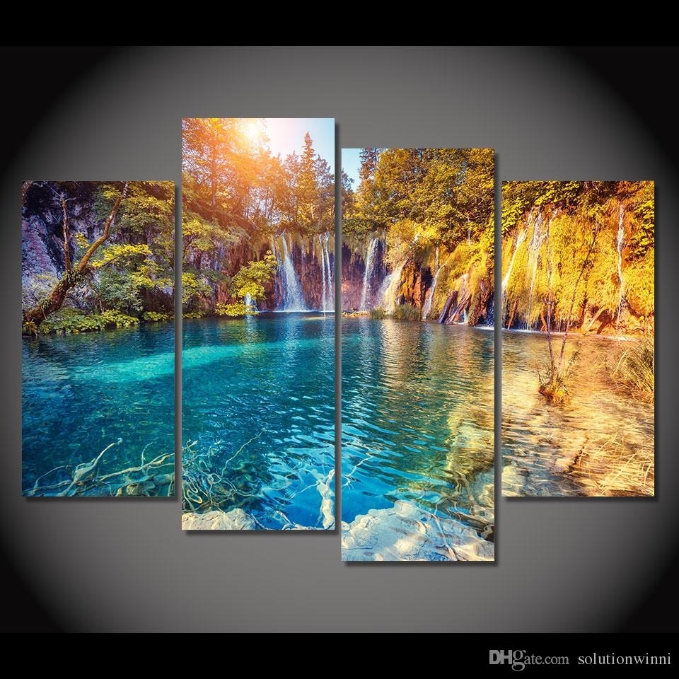 2018 Canvas Painting Clear Pool Nature Hd Printed Canvas Art Prints Regarding Nature Wall Art (Gallery 7 of 20)