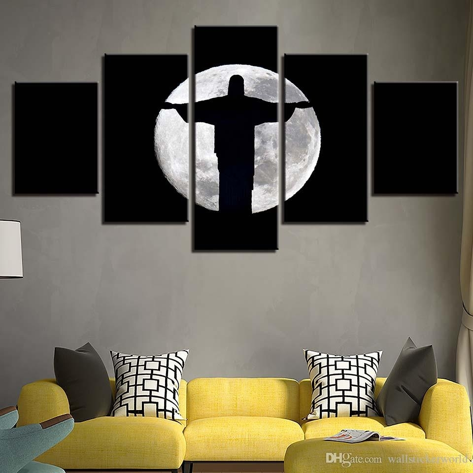 2018 Canvas Paintings Living Room Wall Art Framework Jesus Christ Throughout Wall Art For Living Room (Photo 14 of 20)