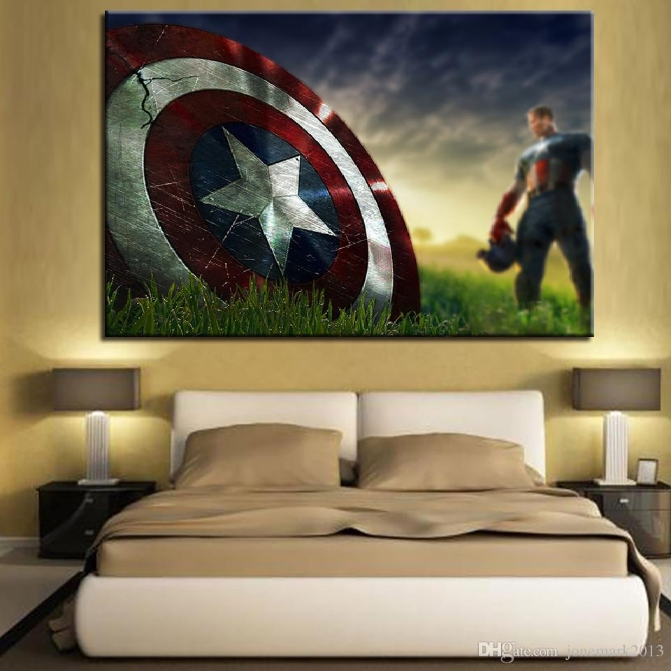 2018 Canvas Paintings Wall Art Framework For Living Room Home Decor For Captain America Wall Art (Gallery 4 of 20)