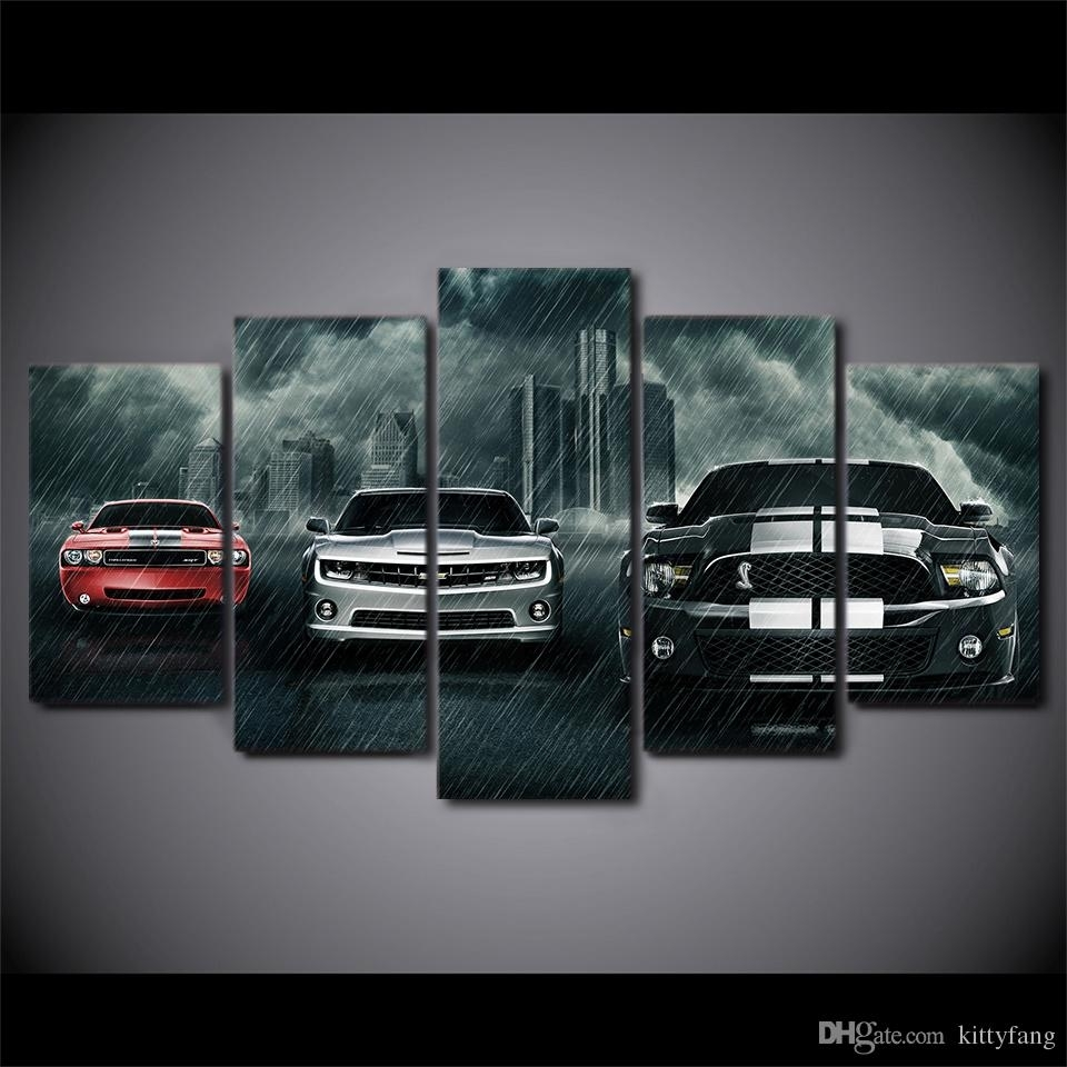 2018 Canvas Wall Art Pictures Home Decor Framework Muscle Cars with regard to Car Canvas Wall Art (Image 3 of 20)