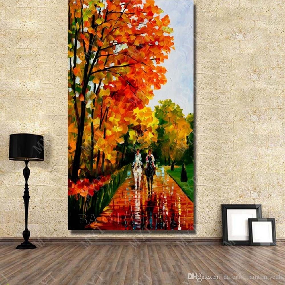 2018 Chinese Wall Art Landscape Painting Hand Painted Canvas Oil In Chinese Wall Art (Photo 9 of 20)
