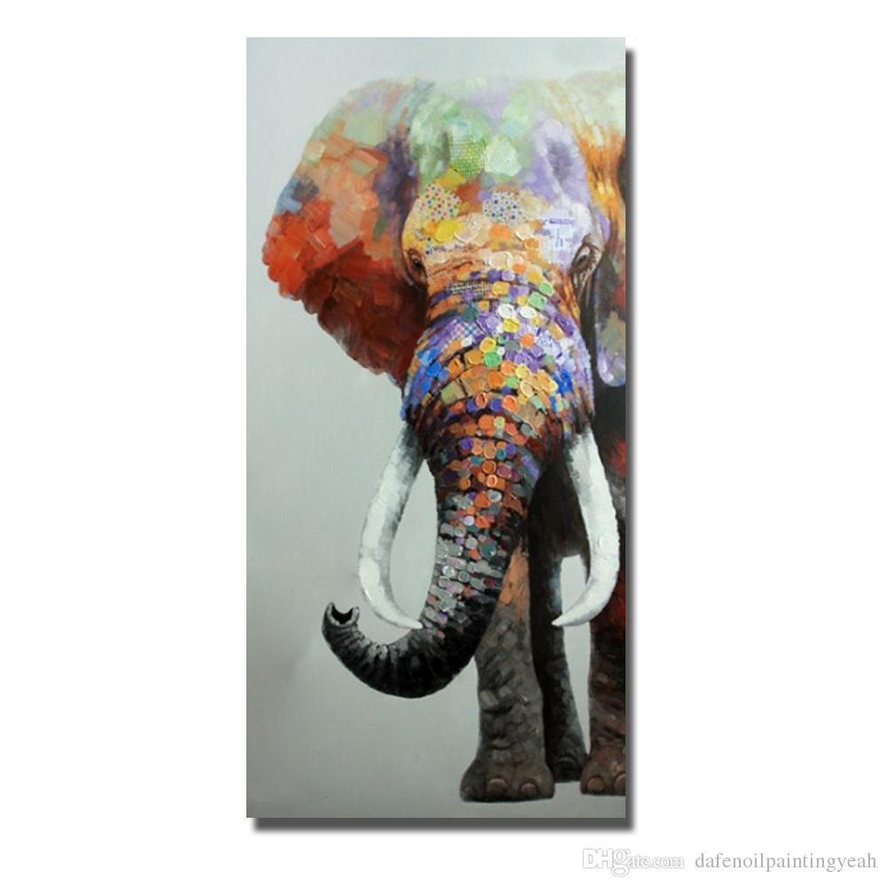 2018 Elephant Wall Art Home Decor Living Room Wall Pictures Abstract With Regard To Elephant Wall Art (Gallery 11 of 20)