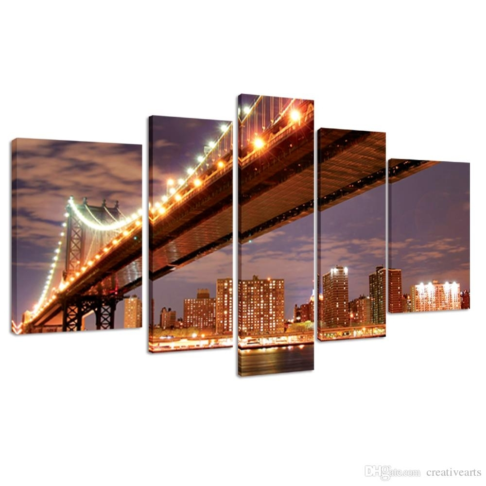 2018 Gallery Wrap Canvas Prints Large Size Modern Canvas Wall Art Throughout New York Canvas Wall Art (Photo 18 of 20)