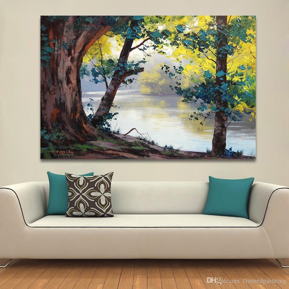 2018 Landscape Painting Home Decor Wall Pictures For Living Room Intended For Living Room Painting Wall Art (Photo 2 of 20)