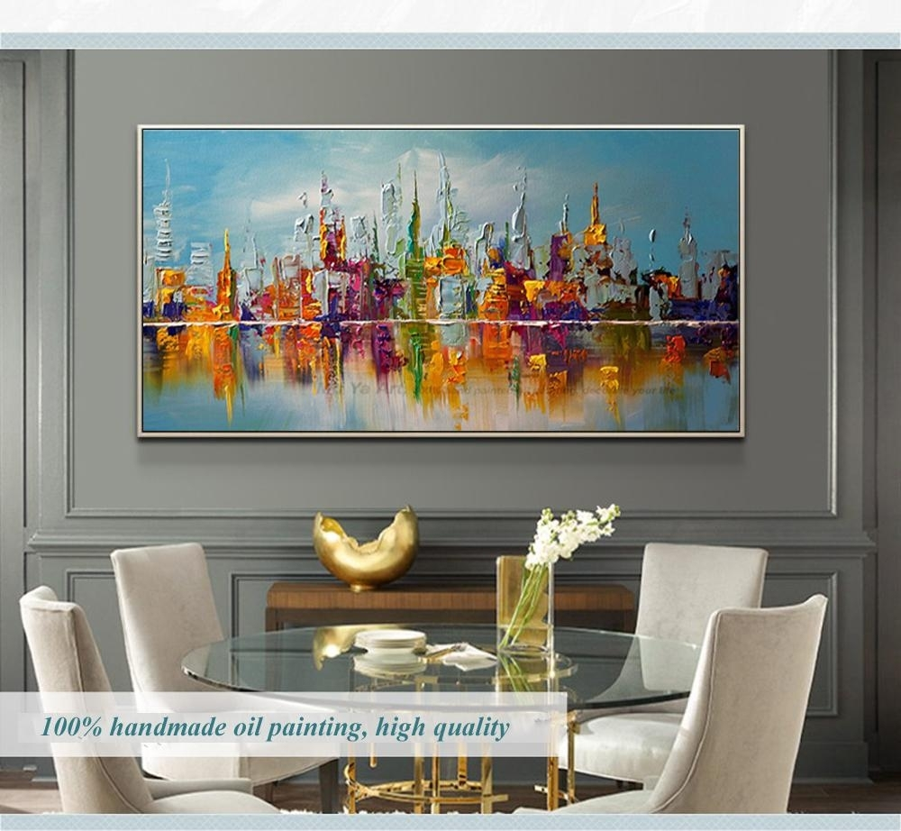2018 Large Canvas Wall Art Abstract Modern Decorative Pictures New Within Modern Large Canvas Wall Art (Photo 12 of 20)