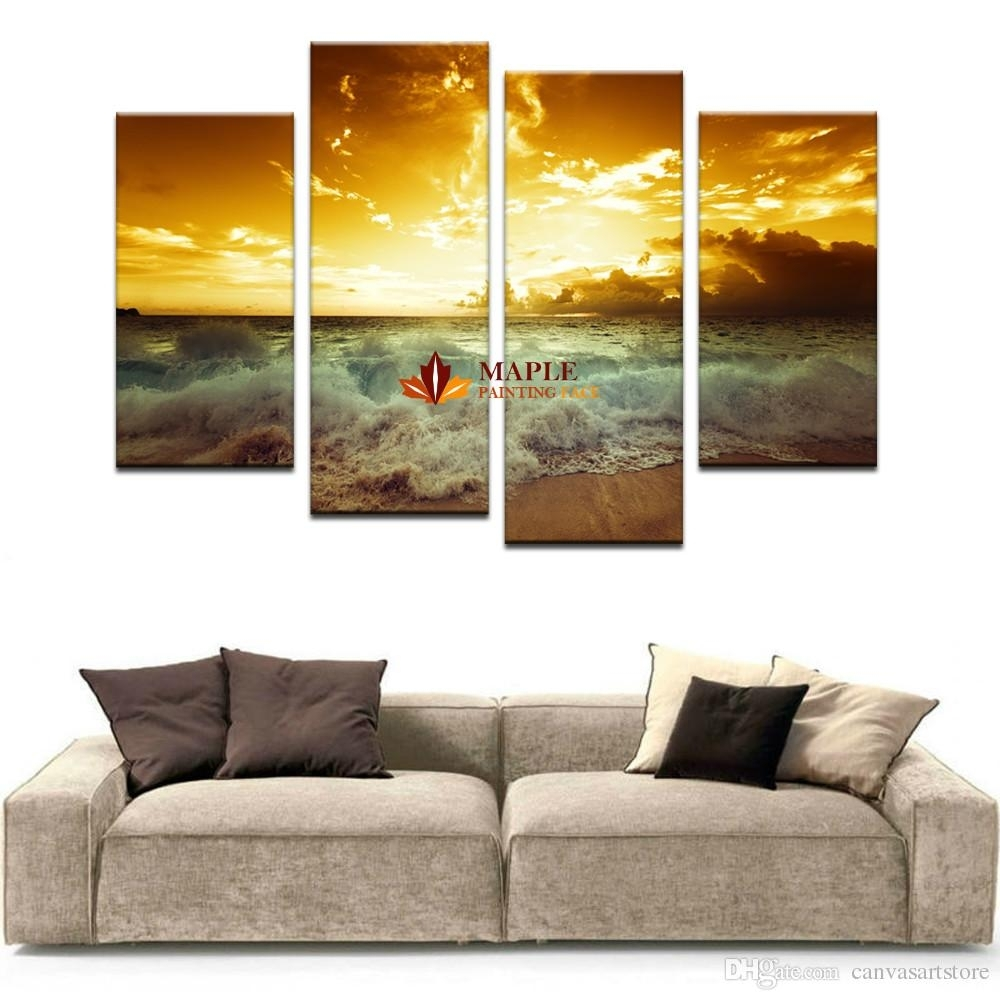 2018 Large Canvas Wall Art Home Decor Painting Landscape Canvas For Large Canvas Wall Art (Gallery 14 of 20)