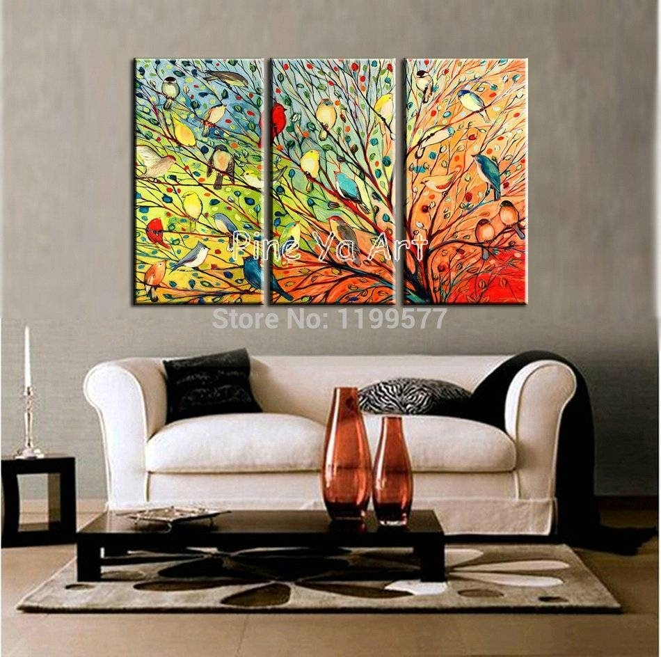 2018 Latest 3 Piece Abstract Wall Art, Multi Piece Wall Art - Swinki with regard to 3 Piece Wall Art (Image 2 of 20)