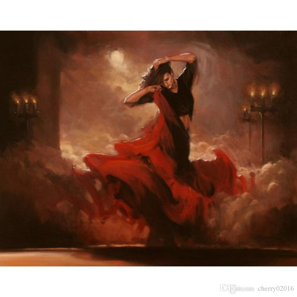 2018 Popular Wall Art Dancing Woman Spain Handmade Modern Oil For Popular Wall Art (Photo 13 of 20)