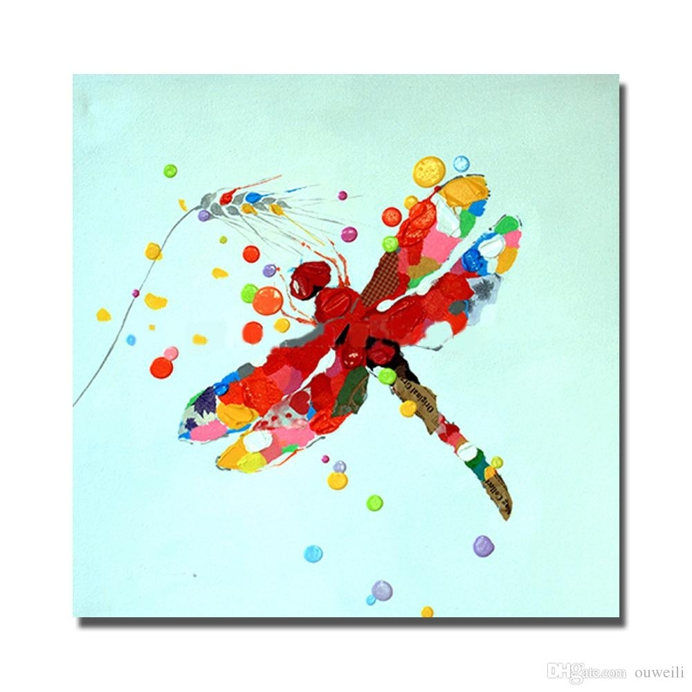 2018 Traditional Designs Of Fabric Painting Cartoon Animal Dragonfly Pertaining To Dragonfly Painting Wall Art (Photo 11 of 20)
