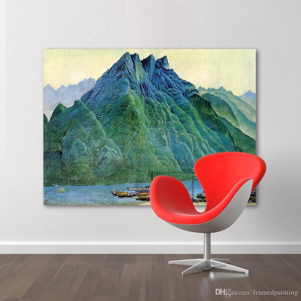 2018 Wall Art Pictures For Living Room Chinese Landscape Painting in Chinese Wall Art (Image 3 of 20)