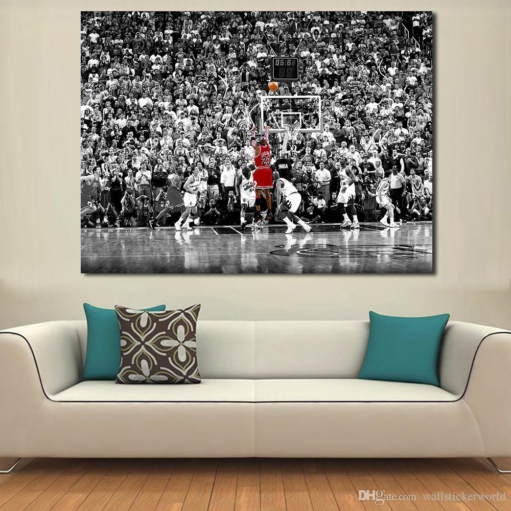 2018 Wall Pictures For Living Room Basketball Games Painting Canvas With Basketball Wall Art (Photo 17 of 20)