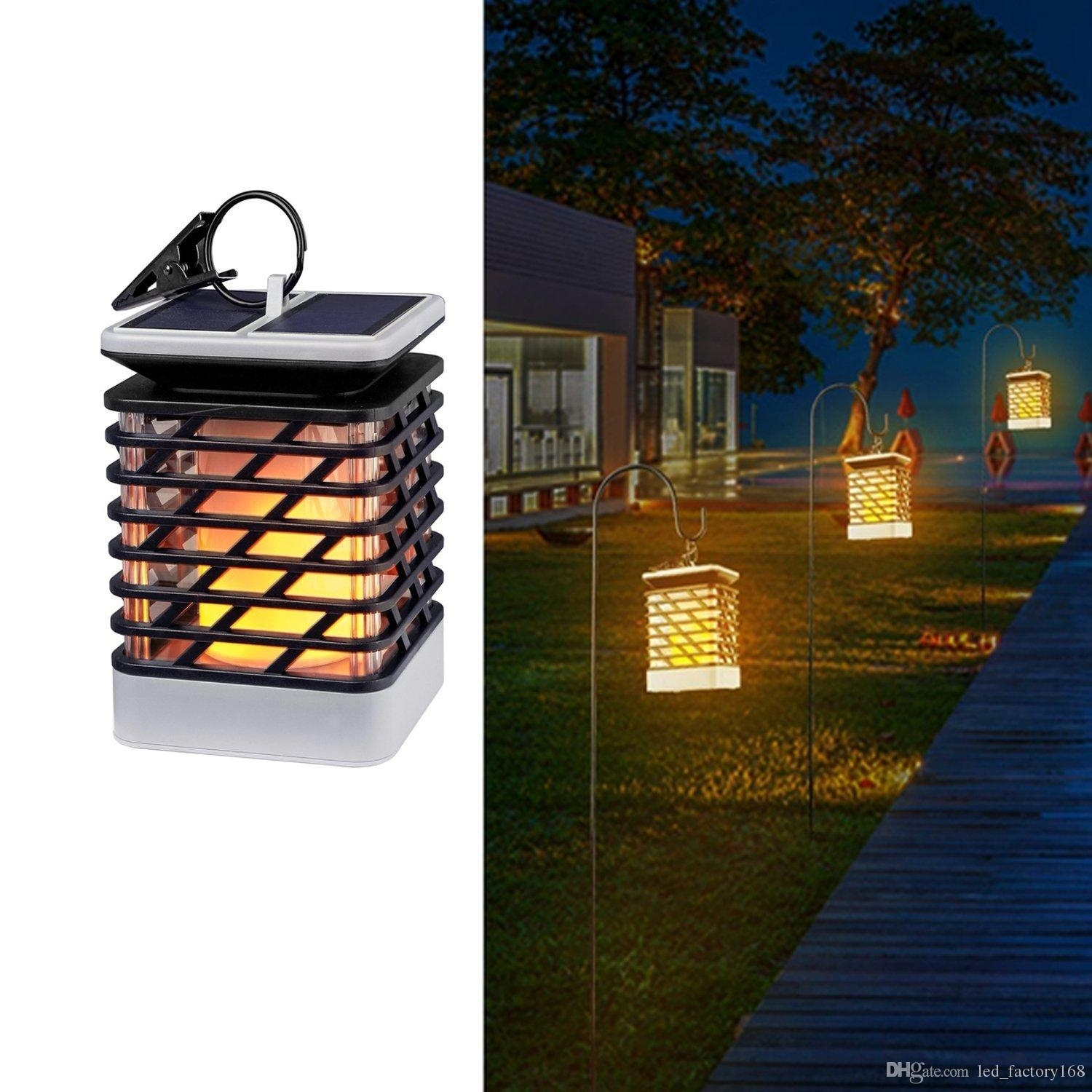 2018 Waterproof Solar Lights Outdoor Led Flickering Flame Torch With Outdoor Ground Lanterns (View 1 of 20)