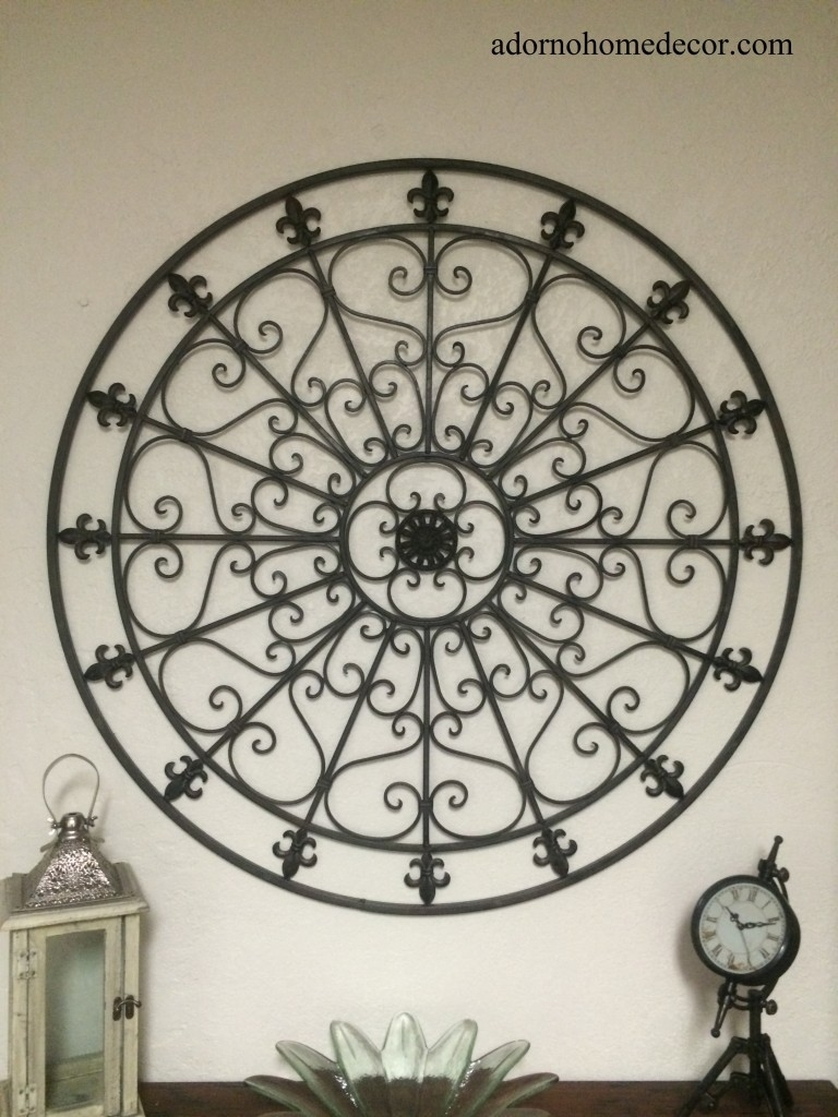 21 Large Iron Wall Art, Large Round Wrought Iron Wall Decor Rustic with Iron Wall Art (Image 2 of 20)