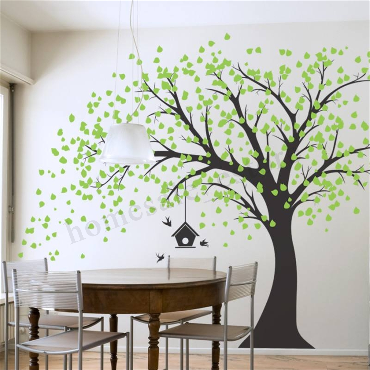 210Cmx180Cm Diy Tree Wall Paper Art Wall Sticker Home Bedroom Bbay Throughout Wall Tree Art (Photo 15 of 20)