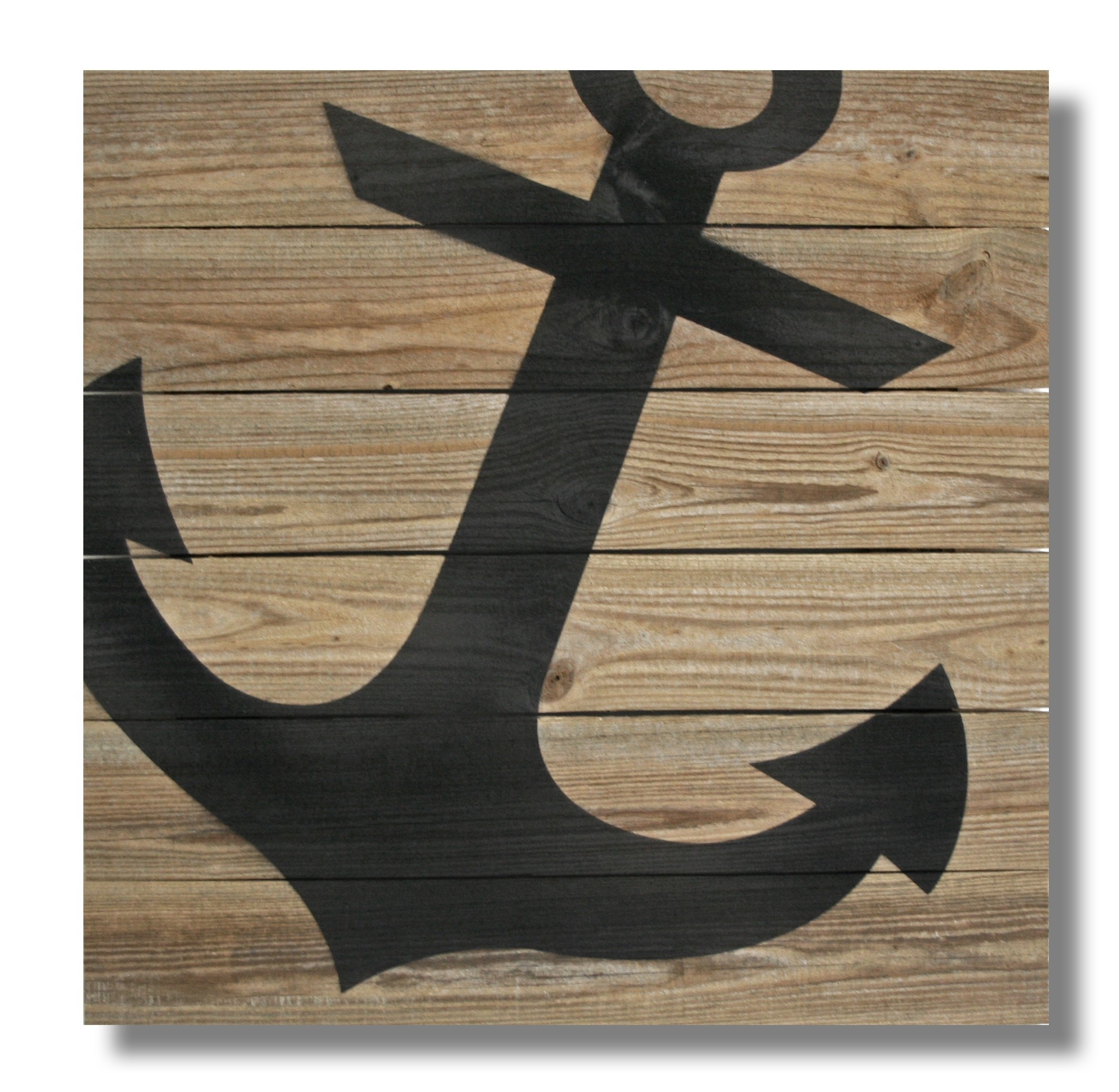 "22"" X 22"" Repurposed Wood Anchor Wall Art - (Rcs-Xl-Anch) - Xl (22 in Anchor Wall Art (Image 1 of 20)"