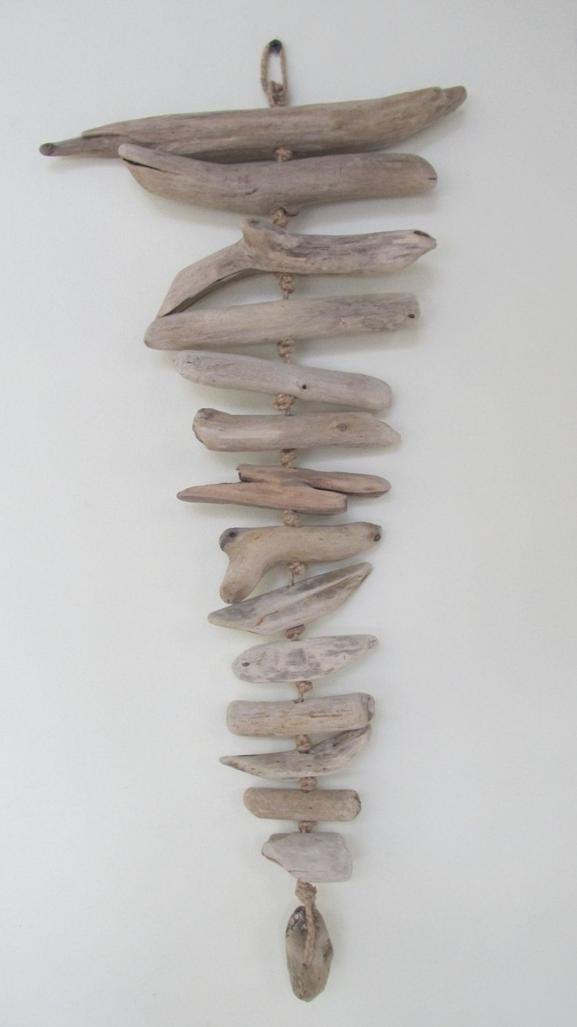 """24.5"""" Unique Driftwood Wall Hanging Decor – Driftwood Tribal Wall With Driftwood Wall Art (Gallery 6 of 20)"""