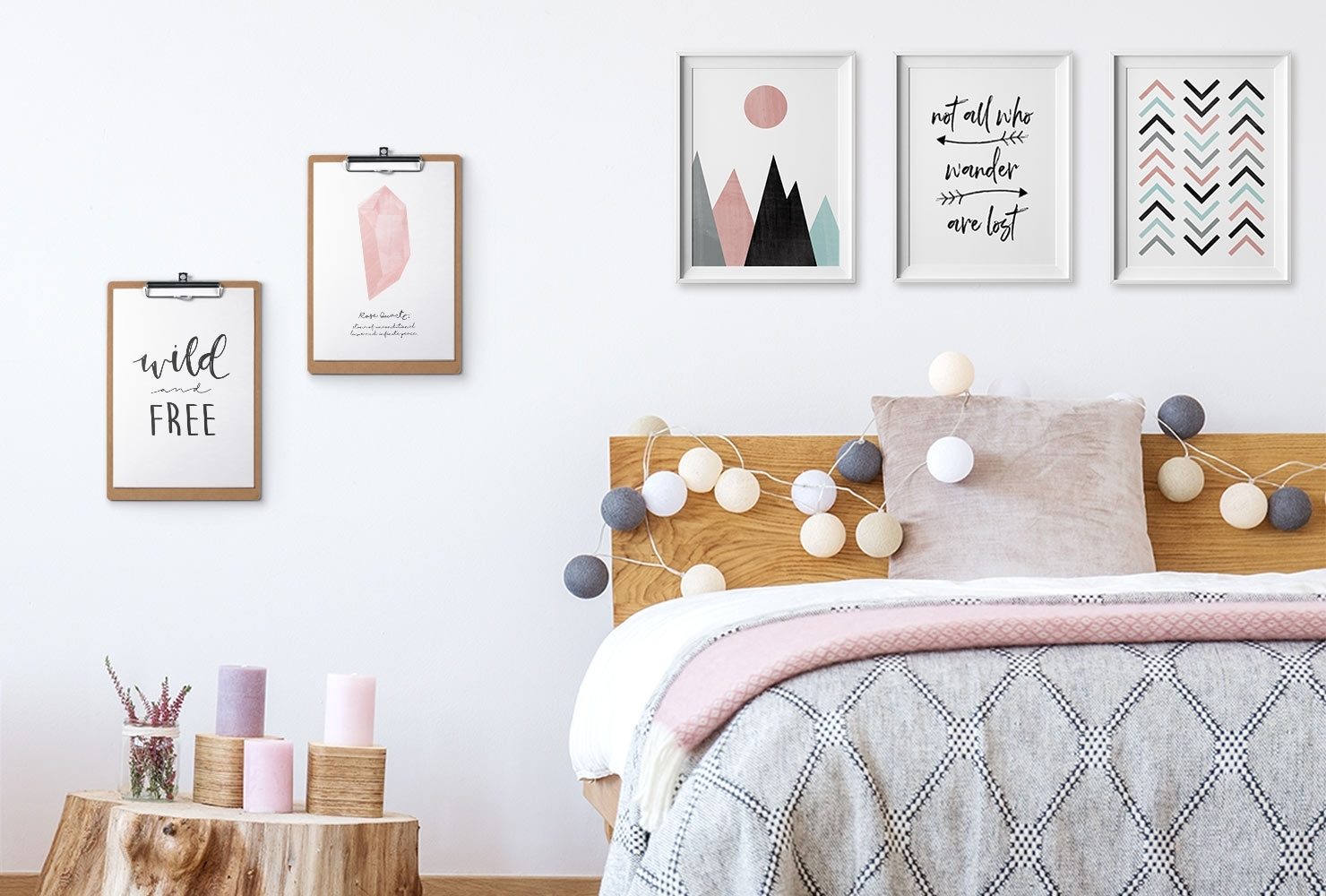 24 Diy Bedroom Decor Ideas To Inspire You (With Printables) | Shutterfly in Bedroom Wall Art (Image 2 of 20)
