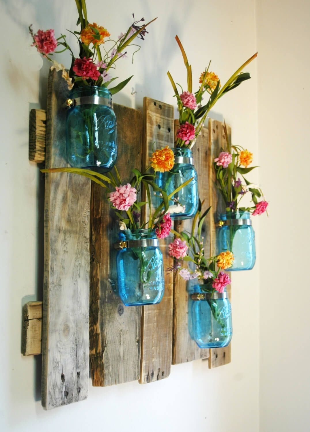 24 Enchanting Mason Jar Wall Decor Ideas To Brighten Your Walls with regard to Mason Jar Wall Art (Image 3 of 20)