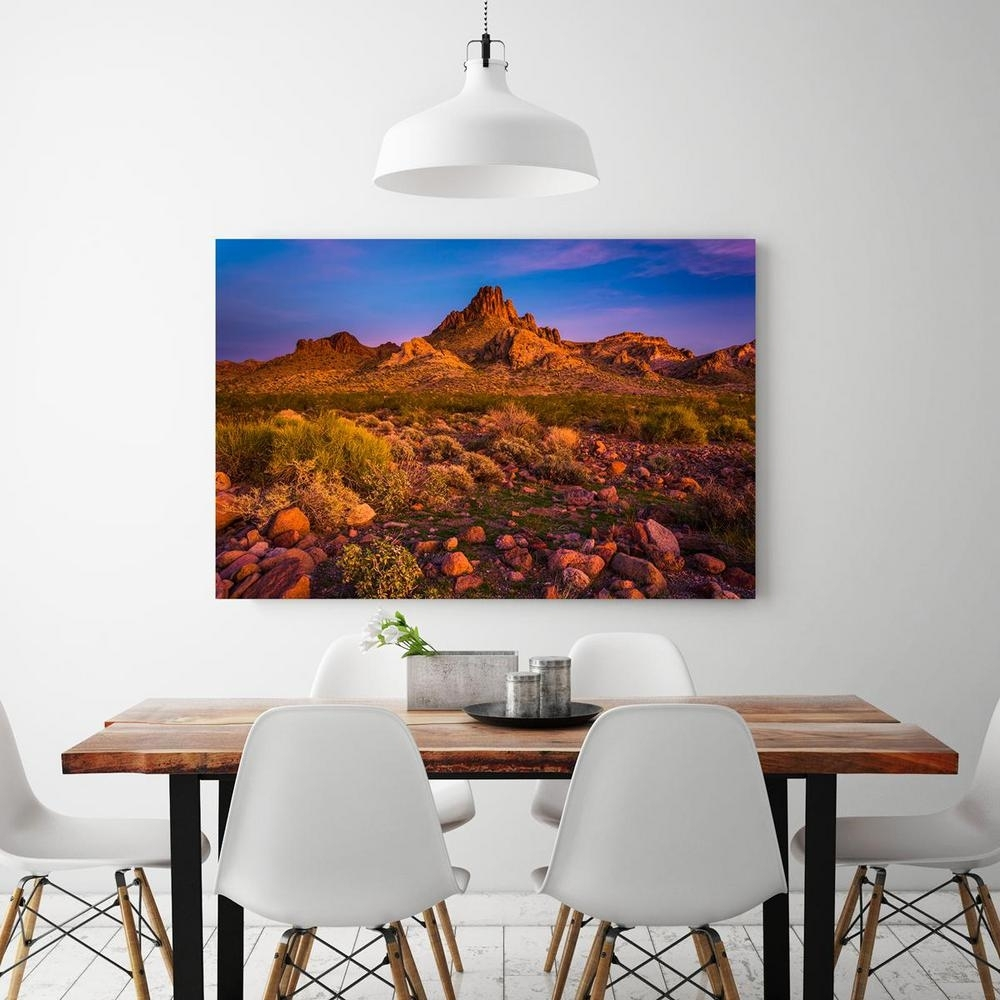 "24 In. X 36 In. ""colorful Desert Sunset In Oatman, Arizona"" Printed Within Arizona Wall Art (Photo 14 of 20)"