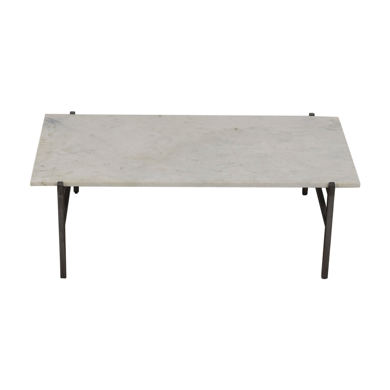 24% Off - Cb2 Cb2 Slab Small Marble Coffee Table With Antiqued pertaining to Slab Small Marble Coffee Tables With Antiqued Silver Base (Image 1 of 30)