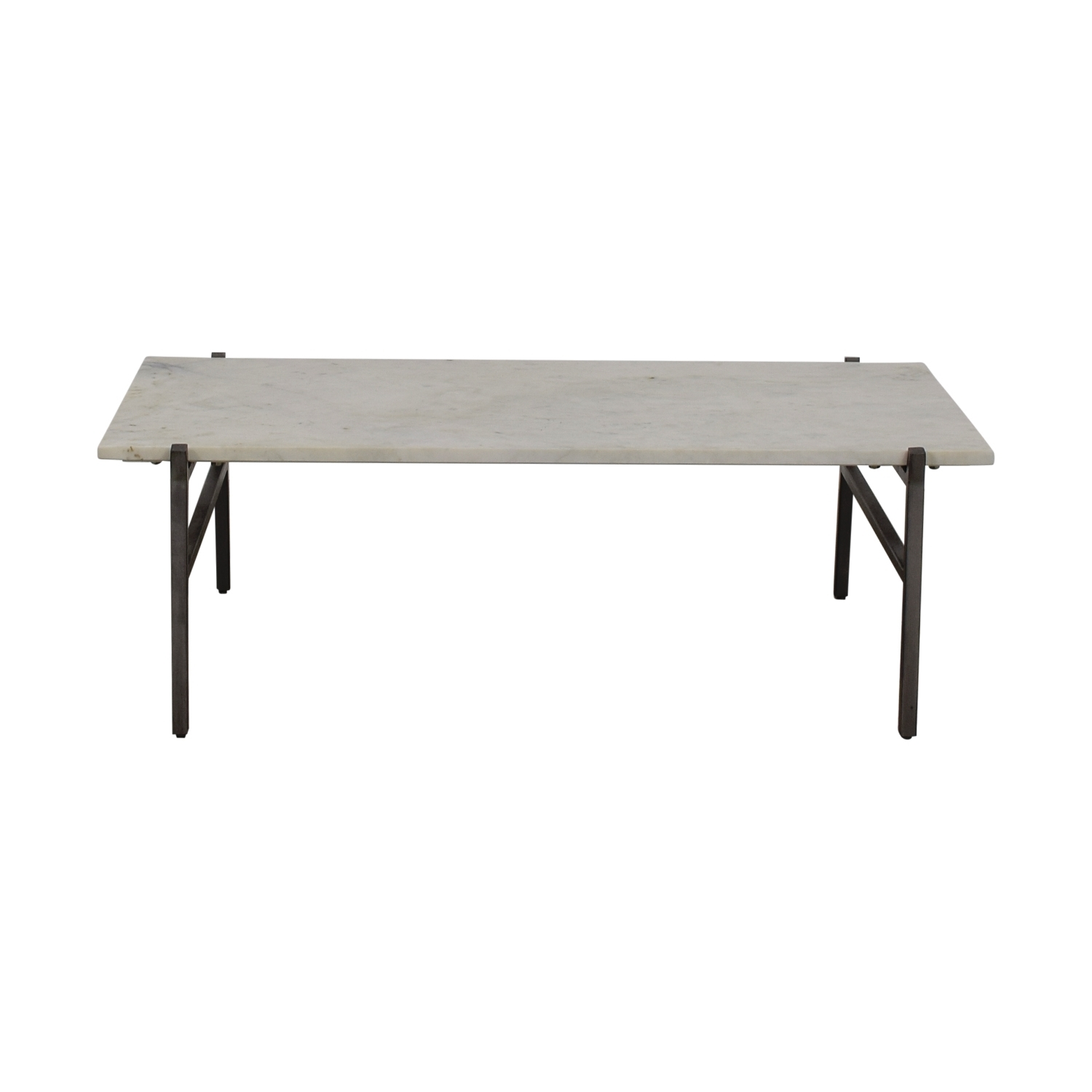 24% Off   Cb2 Cb2 Slab Small Marble Coffee Table With Antiqued With Slab Small Marble Coffee Tables With Antiqued Silver Base (Photo 1 of 30)