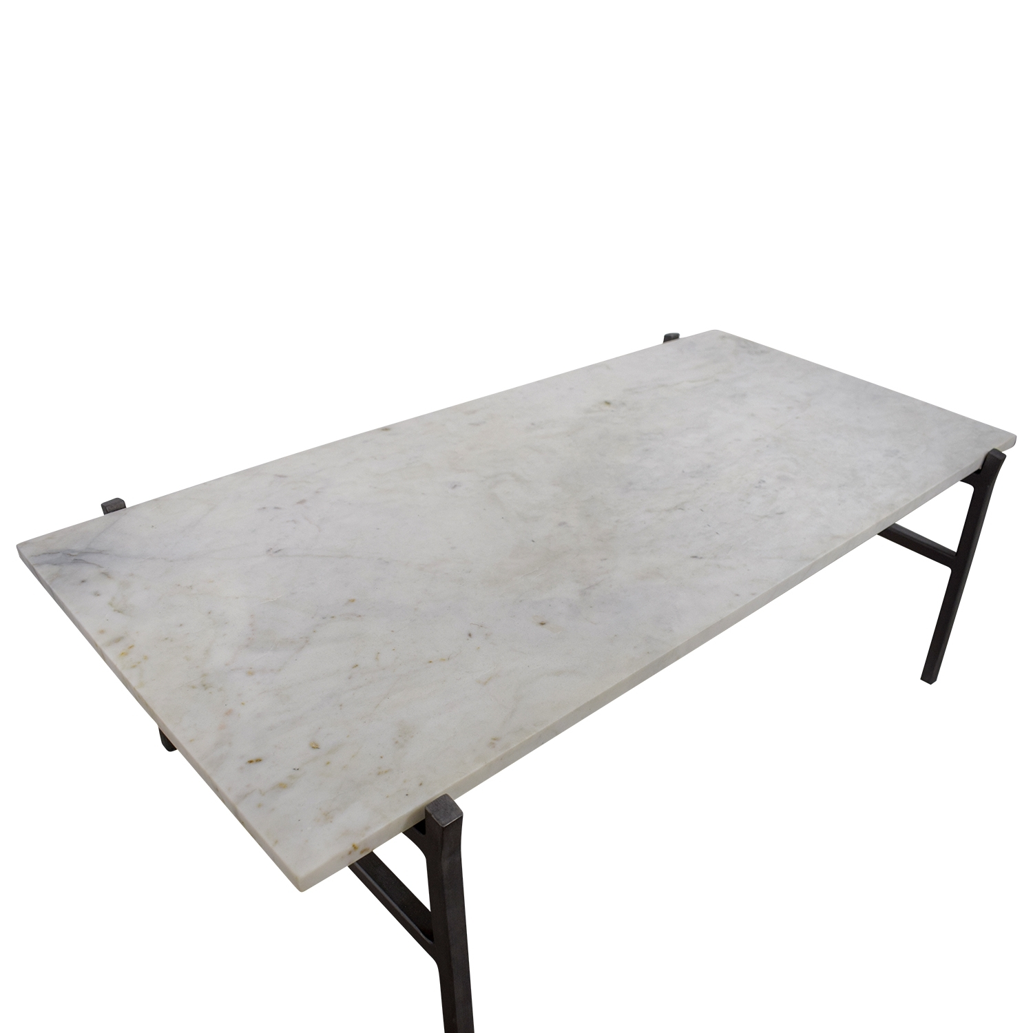 24% Off - Cb2 Cb2 Slab Small Marble Coffee Table With Antiqued within Slab Small Marble Coffee Tables With Antiqued Silver Base (Image 7 of 30)