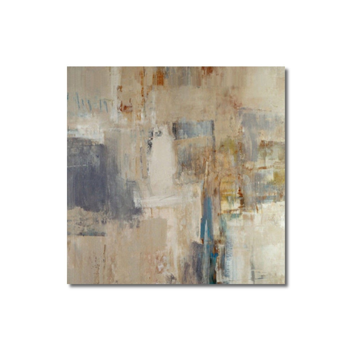 24X24'' Modern Abstract Oil Painting Canvas Wall Art Printed Intended For Modern Abstract Painting Wall Art (Gallery 14 of 20)