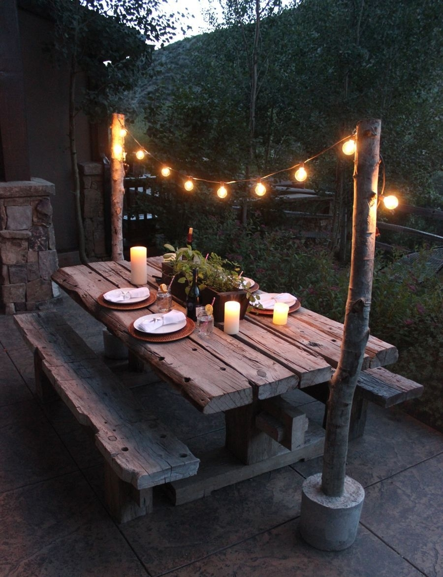 25 Great Ideas For Creating A Unique Outdoor Dining | Landscaping Regarding Outdoor Lanterns For Tables (Gallery 3 of 20)